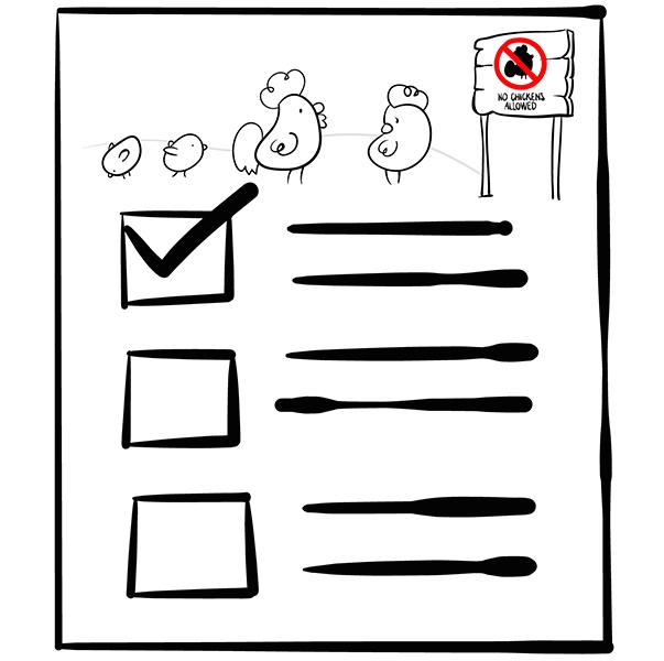 chicken checklist