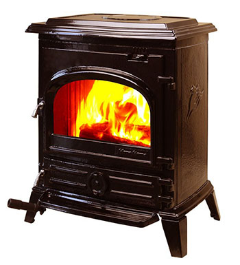 HiFlame Enamel Brown HF517U Wood-Burning Stove