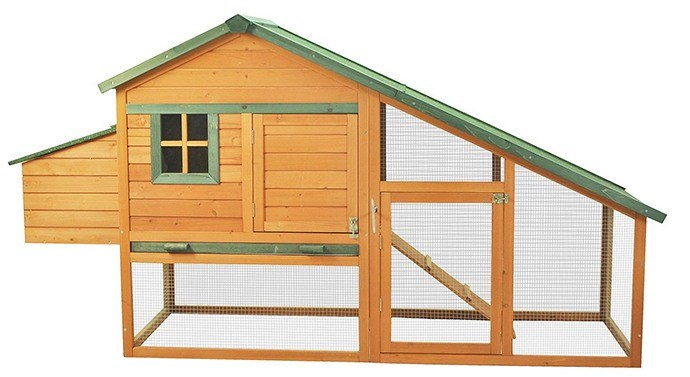 Pawhut Wooden Backyard Hen House
