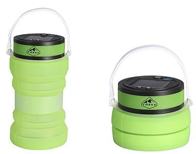 Trekk Solar Camping Lantern with Waterproof Silicone Storage