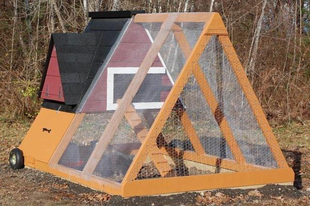 A-Frame Chicken Coop Plans Minimalist Nesting