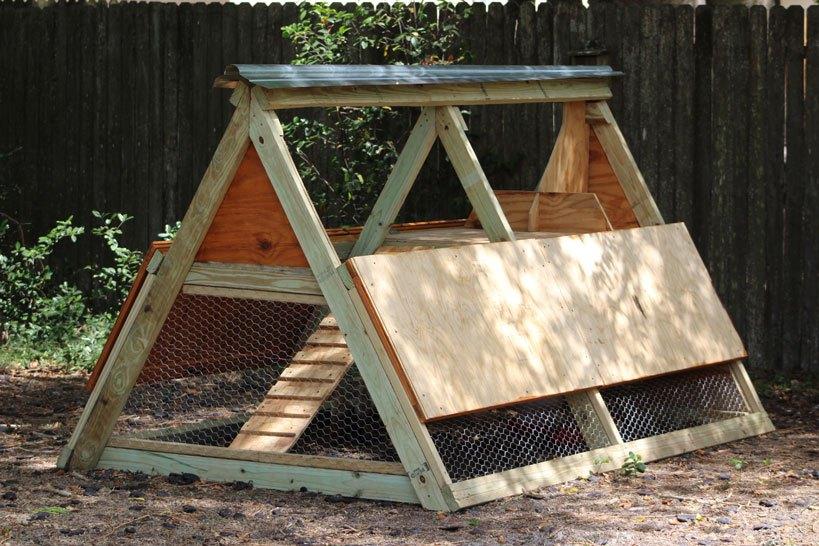 A-Frame Chicken Coop Plans Double Side Door