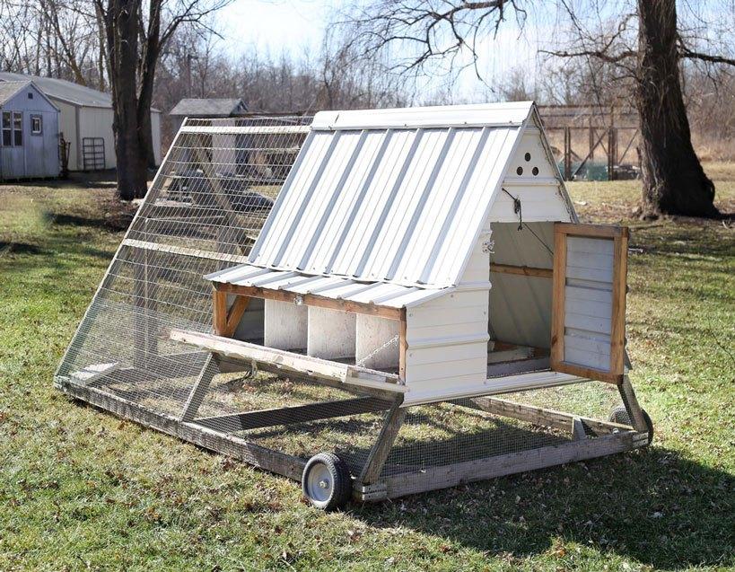 A-Frame Chicken Coop Plans External Nesting Box
