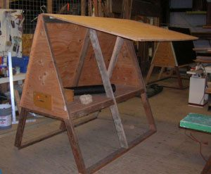 A-Frame Chicken Coop Plans Simple Loft