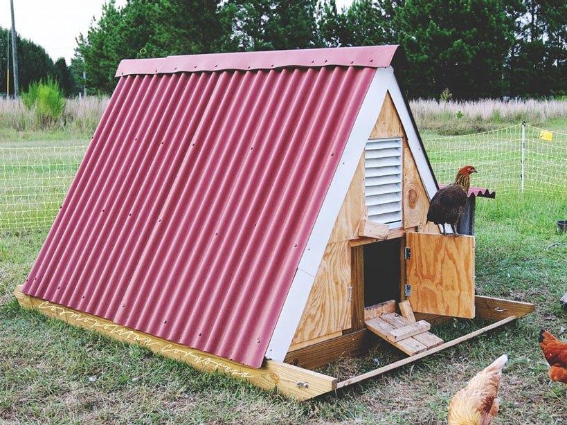 A-Frame Chicken Coop Plans Chicken Slep