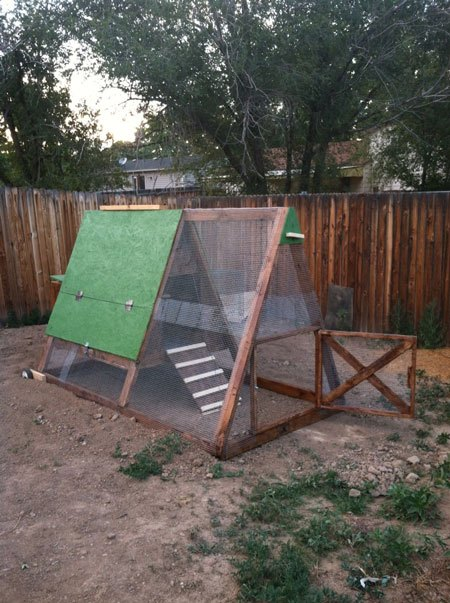 A-Frame Chicken Coop Plans Backyard Tractor