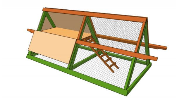 A-Frame Chicken Coop Plans Easy to Clean and Carry