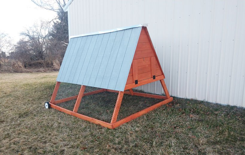 A-Frame Chicken Coop Plans Weather-proof Tractor