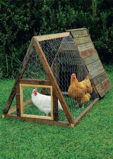 A-Frame Chicken Coop Plans Rustic Coop