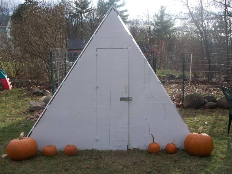 A-Frame Chicken Coop Plans Secured and Critter Proof
