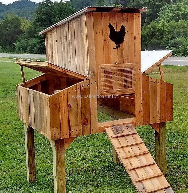 Pallet Coop Ideas Easy Egg Access