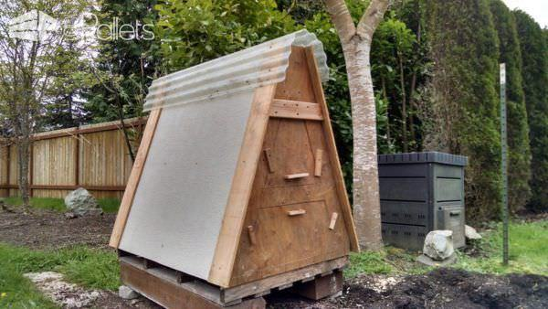 Pallet Coop Ideas Compact A-frame