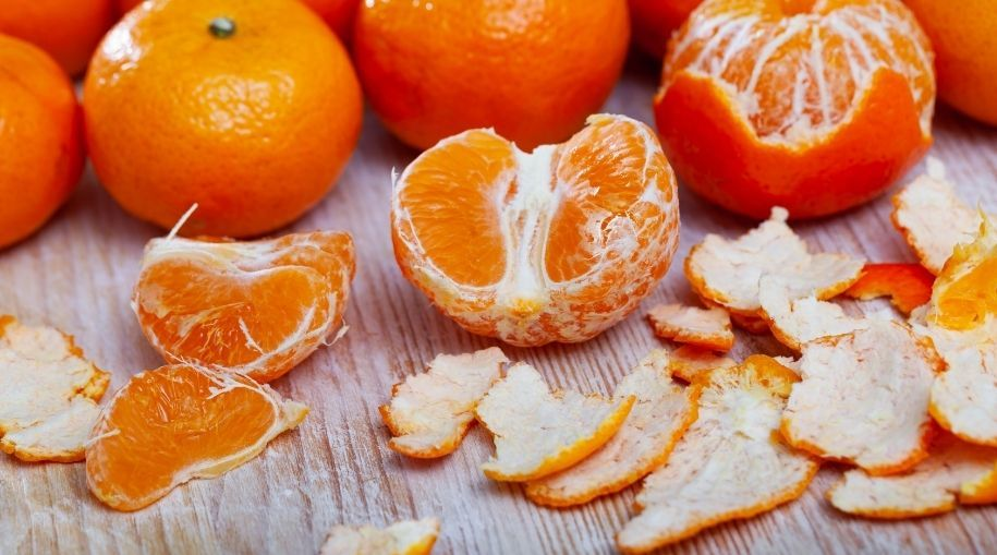 oranges and rinds on the table