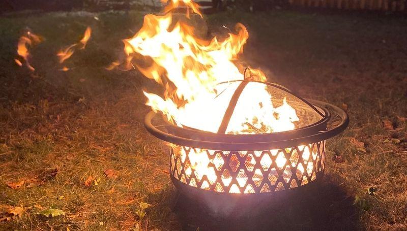 bonfire in the backyard