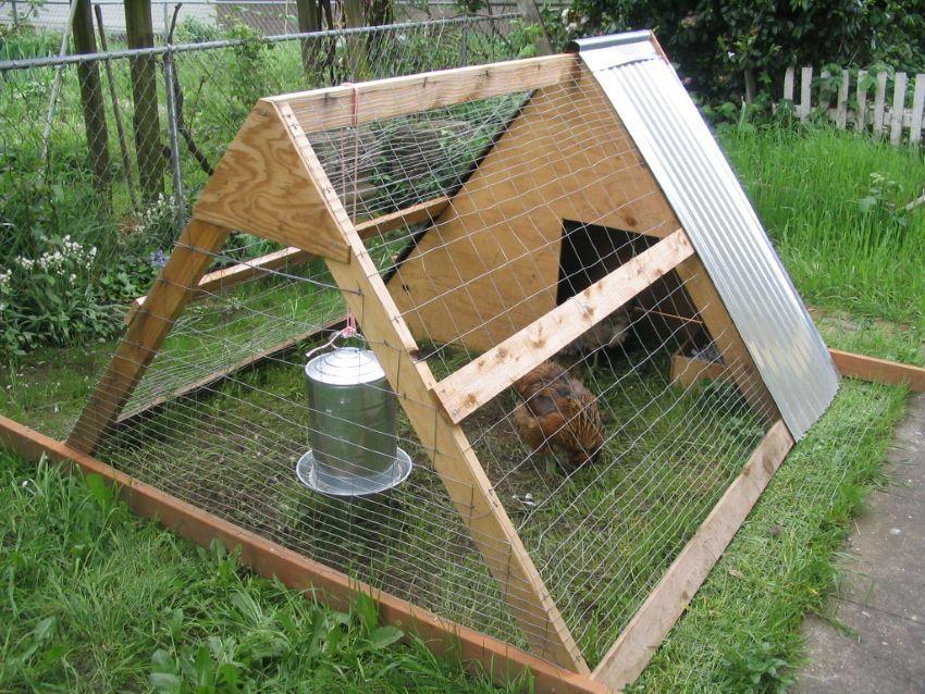 A-frame chicken tractor plan