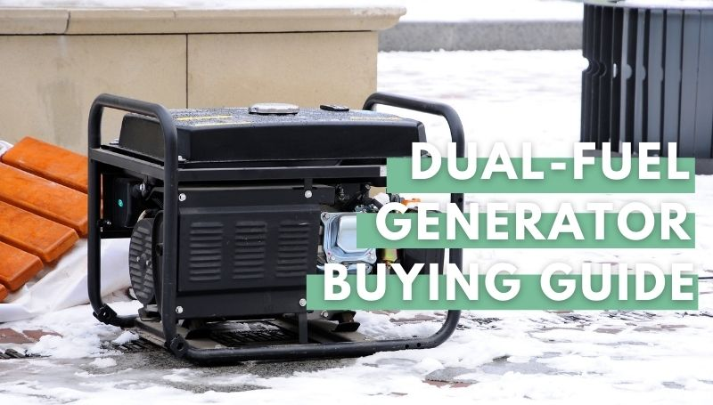 featured image of the best dual-fuel generator article