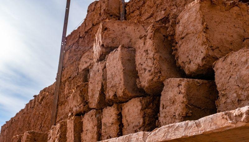 piles of big blocks of earth